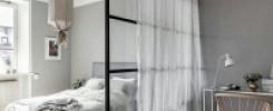 Спальный уголок в однокомнатной квартире. 9 фото идей смелого дизайна