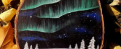 Рисунки на спилах дерева. 15 умопомрачительных картин