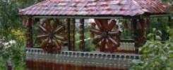 9 фото Беседок из пластиковых бутылок своими руками на даче