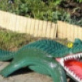 Зубастые крокодилы из покрышек своими руками. 7 идей + фото
