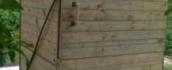 Летний душ из поддонов (деревянных). 10 фото для вашей дачи