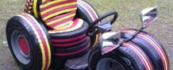 Машина из покрышек своими руками. 12 супер идей для детской площадки