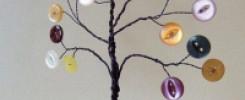 Дерево из пуговиц и проволоки. 10 фото - Просто и оригинально!