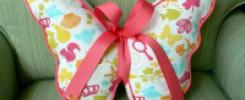 Великолепная подушка для красоты и сладких снов в форме бабочки. 13 фото