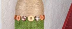 Бутылки из пуговиц: 12 шедевральных идей декора