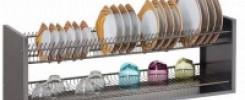10 идей настенных полок для сушки посуды. +ФОТО