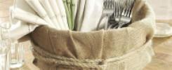Вазы из мешковины. Десять оригинальных идей для декора вашей квартиры