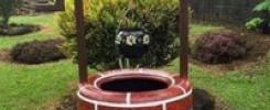 Колодец из покрышек своими руками (декоративный) -10 фото
