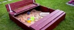 Песочница для детей. 11 простых и интересных моделей