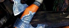 Уникальные славянские топоры: 10 фото  с индивидуальным травлением