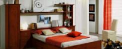 Кровать с прикроватными полками. 9 интересных моделей + фото