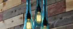 10 идей - ламп из стеклянной бутылки. Фото