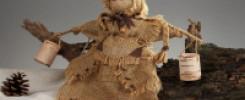 10 идей как сделать куклу столбушку из мешковины. Фото обзор