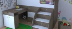 Детский уголок со спальным местом: 10 лучших вариантов