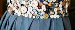 Сногсшибательные пояса (из пуговиц!) для платья или юбки. +7 моделей