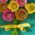 Потрясающие картины с букетами из пуговиц. 10 аппликаций