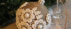 Новогодние шары из мешковины - 10 фото для вашей Ёлки