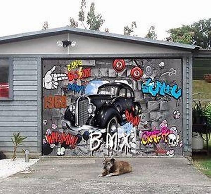 рисунки на воротах гаража своими руками фото хороши удивительные