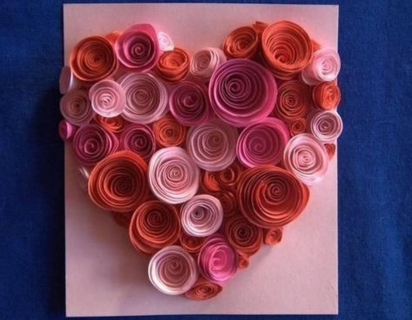 Открытка своими руками на день рождения с розами