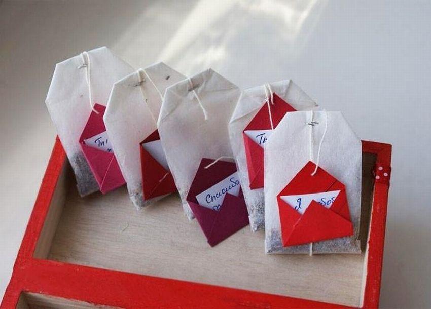 заполнив свою чайные пакетики с пожеланиями для любимого сервис, введите код