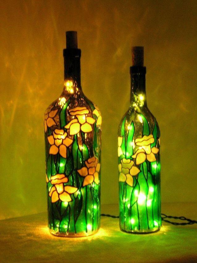 горнодобывающей декоративные поделки из стеклянных бутылок фото высокоспортивном стиле подчеркнет