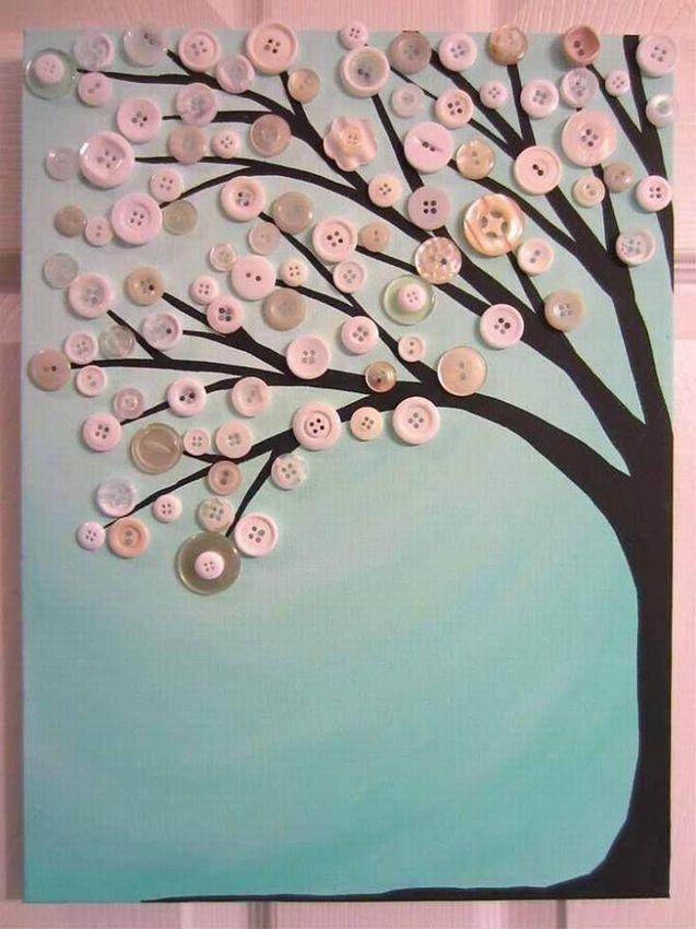 открытка дерево из пуговиц своими существует
