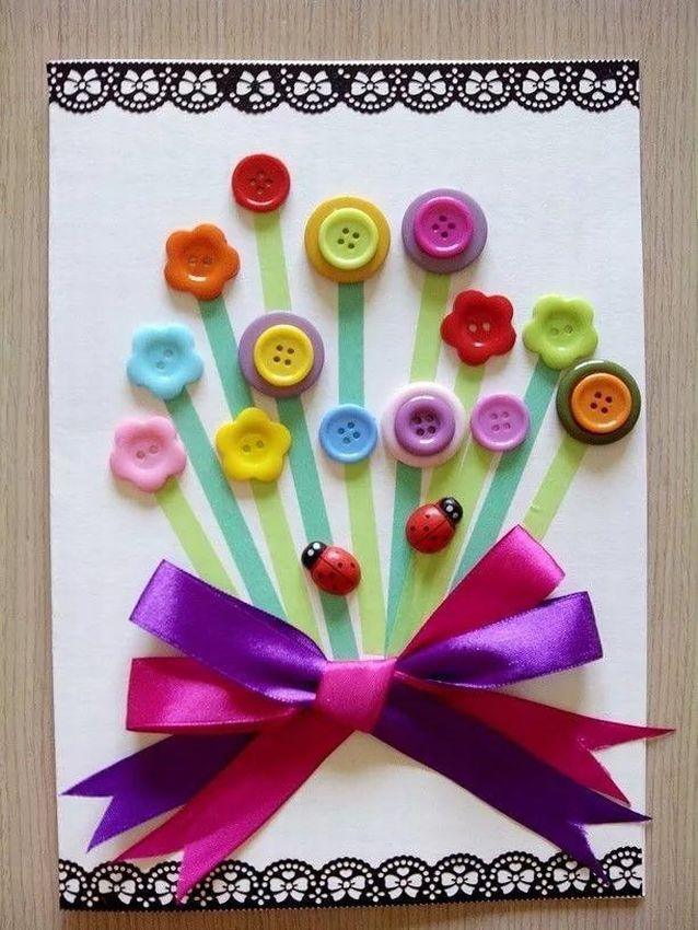Фоны, открытки из пуговиц с днем рождения