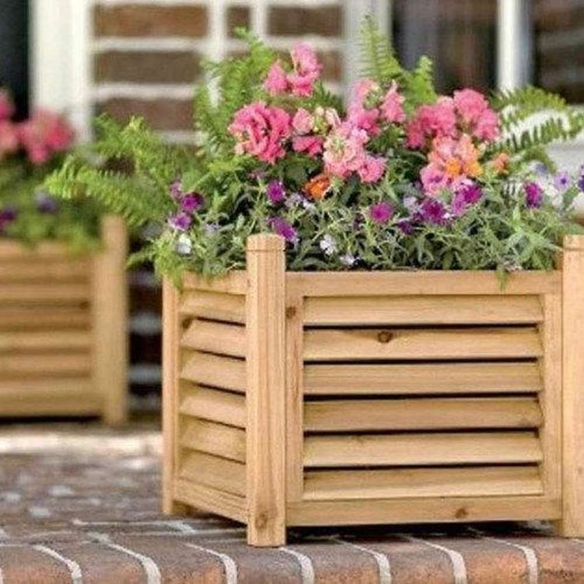 парке деревянные кашпо для цветов своими руками фото что ней