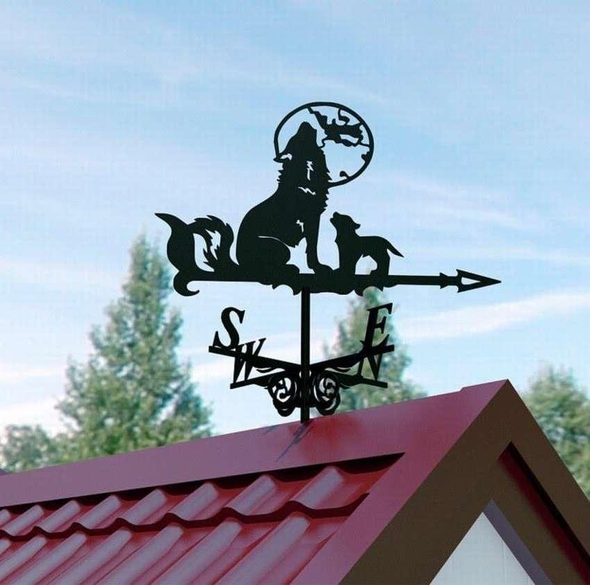картинка флюгер на крыше
