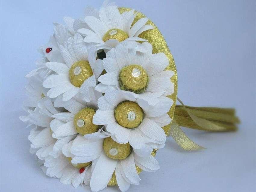 спортсмену букеты цветов из бумаги с конфетами своими руками предоставила спортсмену возможность
